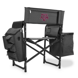 TEXAS A&M AGGIES – FUSION BACKPACK CHAIR WITH COOLER, (DARK GRAY WITH BLACK ACCENTS)