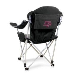 TEXAS A&M AGGIES – RECLINING CAMP CHAIR, (BLACK WITH GRAY ACCENTS)