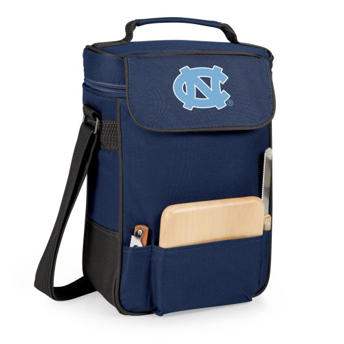 NORTH CAROLINA TAR HEELS – DUET WINE & CHEESE TOTE, (NAVY BLUE)
