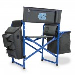 NORTH CAROLINA TAR HEELS – FUSION BACKPACK CHAIR WITH COOLER, (DARK GRAY WITH BLUE ACCENTS)