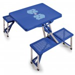 NORTH CAROLINA TAR HEELS – PICNIC TABLE PORTABLE FOLDING TABLE WITH SEATS, (ROYAL BLUE)