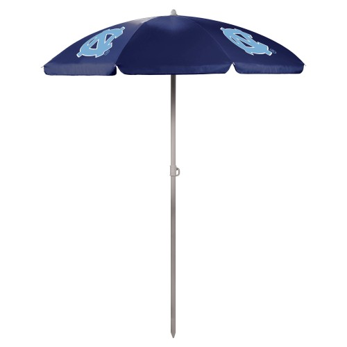 NORTH CAROLINA TAR HEELS – 5.5 FT. PORTABLE BEACH UMBRELLA, (NAVY BLUE)