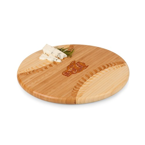 NC STATE WOLFPACK – HOME RUN! BASEBALL CUTTING BOARD & SERVING TRAY, (RUBBERWOOD)