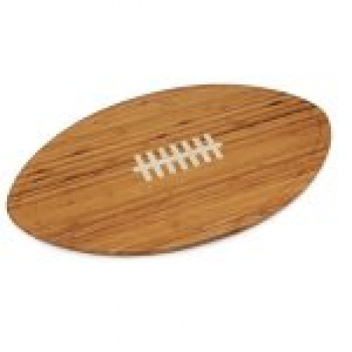 KICKOFF FOOTBALL CUTTING BOARD & SERVING TRAY, (BAMBOO)