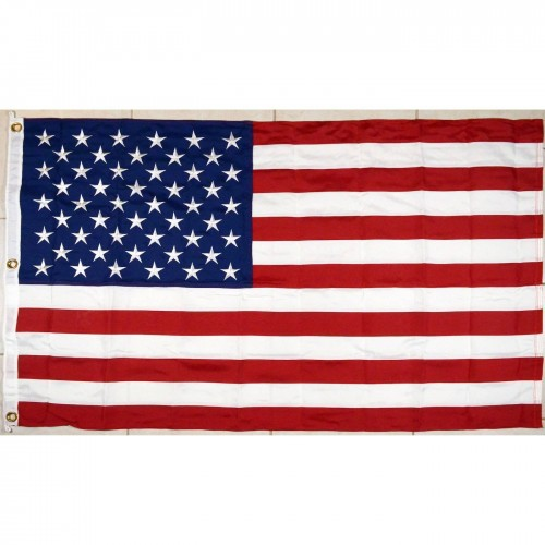 600D Polyester USA Flag - Embroidered
