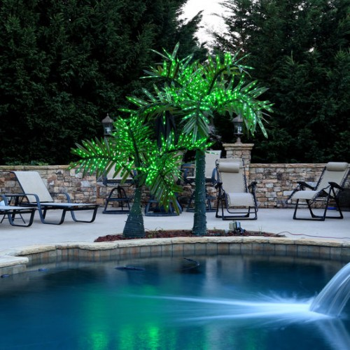10' Realistic Commercial LED Palm Tree