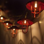 LED Red Lantern String Lights, 10 Warm White Lights